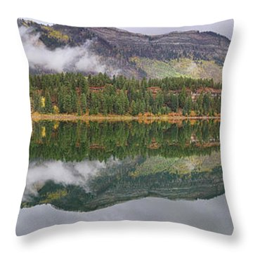 Throw Pillow featuring the photograph Haviland Lake Pano by Theo O'Connor