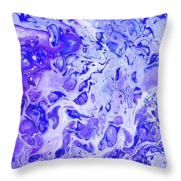 Hawaiian Blue Ginger Throw Pillow