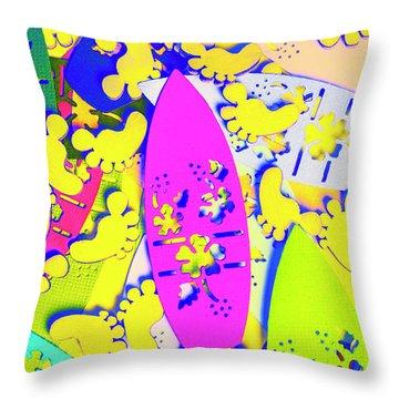 Hawaiian Design Throw Pillow