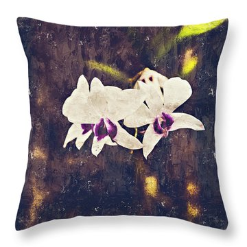 Hawaiian Tree Orchid Throw Pillow