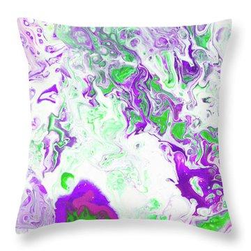 Hawiian Lilikoi Flower Throw Pillow