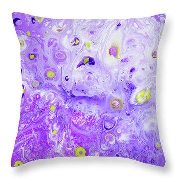 Hawiian Purple Princess Flower Throw Pillow