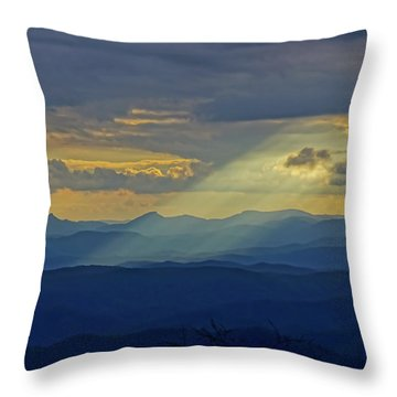 Hawks Bill Mountain Sunset Throw Pillow