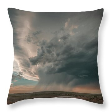 Hay Springs Ne Supercell Throw Pillow