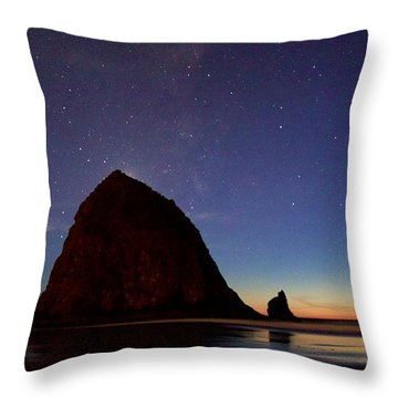 Haystack Night Sky Throw Pillow
