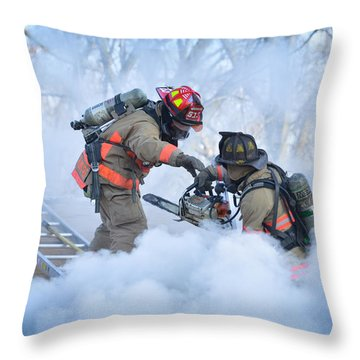 Throw Pillow featuring the photograph Hazardous Duty by Carl Young