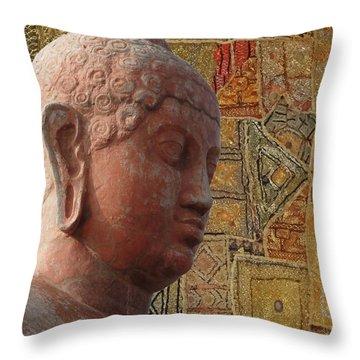 Head Of Buddha,  Throw Pillow