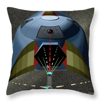 Head On Attack Throw Pillow