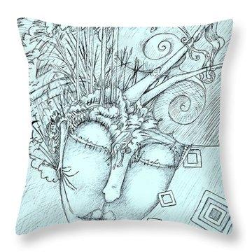 Head Over Heals Throw Pillow