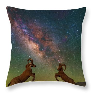 Head To Head With The Galaxy Throw Pillow