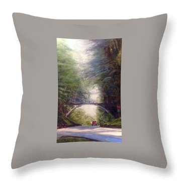 Throw Pillow featuring the painting Heading East by J Reynolds Dail