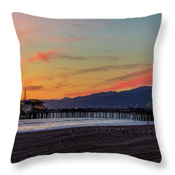 Heading Home At Dusk Throw Pillow