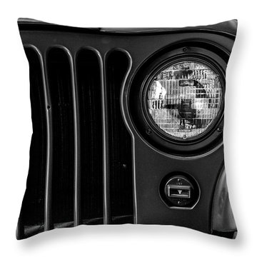 Throw Pillow featuring the photograph Headlight, Jeep by Edward Lee