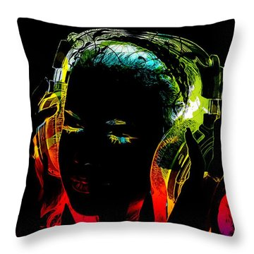 Headphone Throw Pillow
