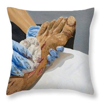 Healing Hands Throw Pillow