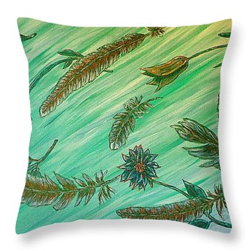 Healing Messages Throw Pillow
