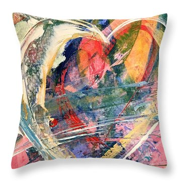 Throw Pillow featuring the painting Heart Full Of Love by Robin Maria Pedrero