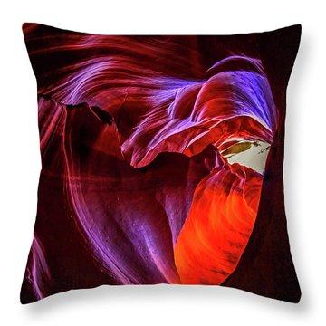 Heart Of Antelope Canyon Throw Pillow