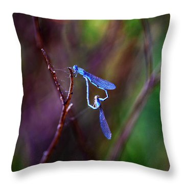 Heart Of Dragonfly Throw Pillow