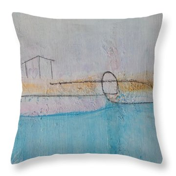 Throw Pillow featuring the painting Heart Of The Home by Kim Nelson