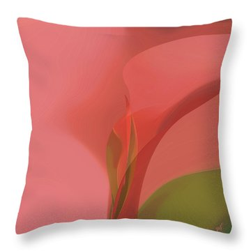 Throw Pillow featuring the digital art Heart Of The Matter by Gina Harrison