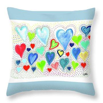 Hearts 1002 Throw Pillow