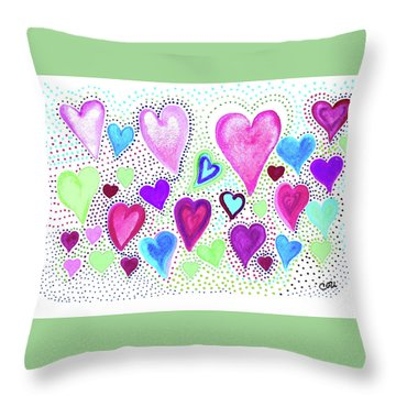 Hearts 1004 Throw Pillow
