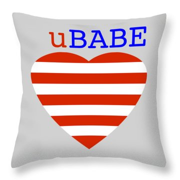 Hearts And Stripes Throw Pillow