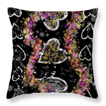 Hearts Connect Hearts Break Throw Pillow
