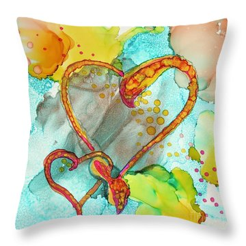 Hearts Entwined Throw Pillow