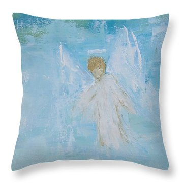 Heavenly Angel Child Throw Pillow