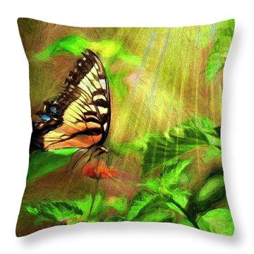 Heavenly Nectar Throw Pillow