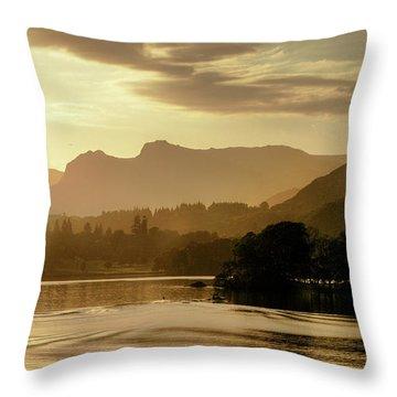 Heavens Golden Hour Throw Pillow
