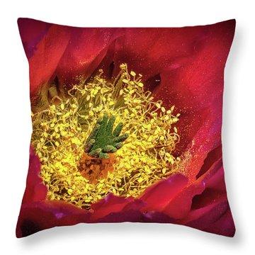 Hedgehog Bloom Throw Pillow