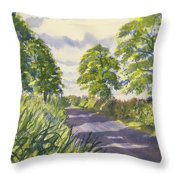 Hedgerows On Rudston Road Throw Pillow