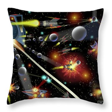Hell In Space Throw Pillow