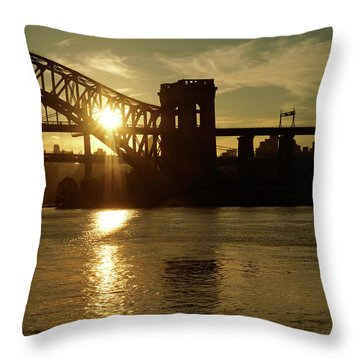 Hellgate Sun Beam Throw Pillow