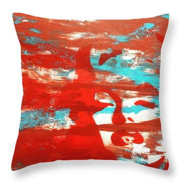 Her Glow Throw Pillow