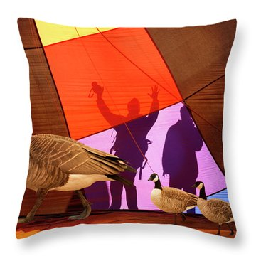 Here A Minute Ago Throw Pillow