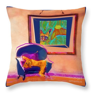 Here's Looking At You Kit Throw Pillow