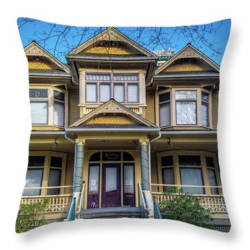 Throw Pillow featuring the photograph Heritage House by Ross G Strachan