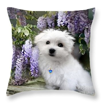 Hermes And Wisteria Throw Pillow