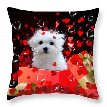 Hermes The Valentine Boy Throw Pillow