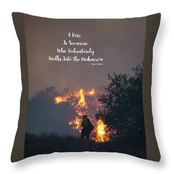 Throw Pillow featuring the photograph Hero by Lynn Bauer
