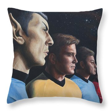 Heroes Of The Final Frontier Throw Pillow