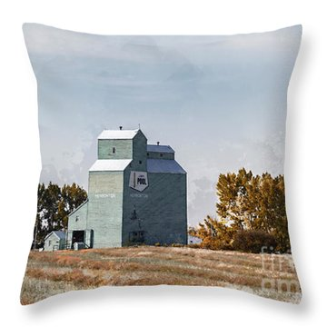 Throw Pillow featuring the photograph Herronton Elevator by Brad Allen Fine Art