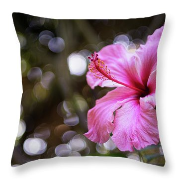 Throw Pillow featuring the photograph Hibiscus Flower Bloom by Pablo Avanzini