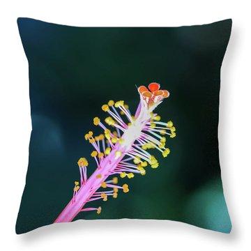 Hibiscus' Pistil Throw Pillow