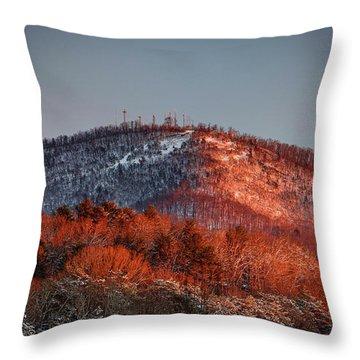 Hibriten Mountain - Lenoir, North Carolina Throw Pillow