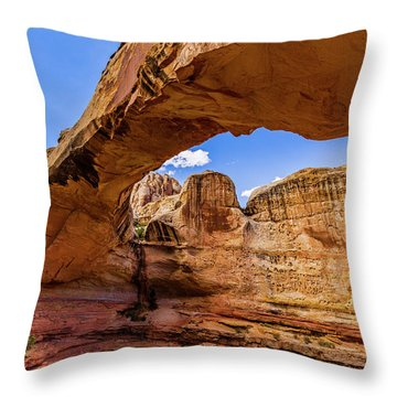 Hickman From The West Throw Pillow